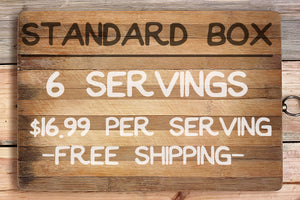 Standard box- 16.99$ per serving, 6 servings total