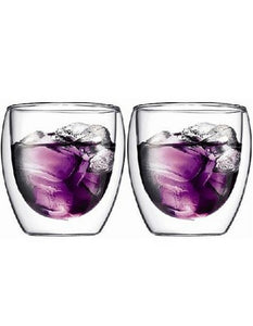Bodum Pavina Double Wall Latte Glasses, Set of 2, 250ml
