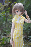 POS Yellow Plaid Qipao
