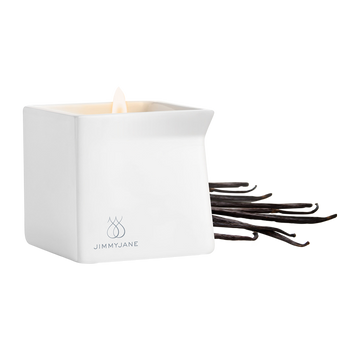 JimmyJane Afterglow Massage Oil Candle Dark Vanilla