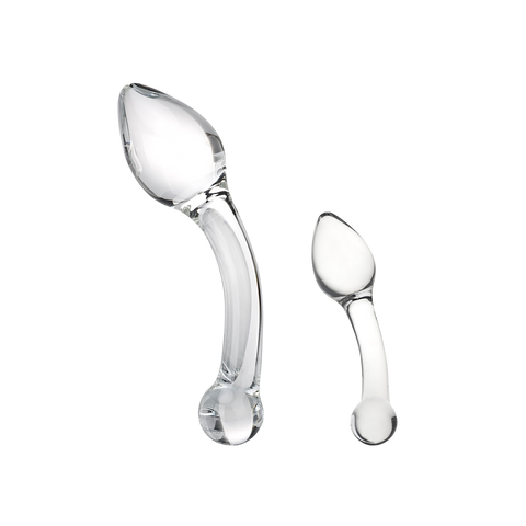 CURVED G SPOT STIMULATOR GLASS DILDO