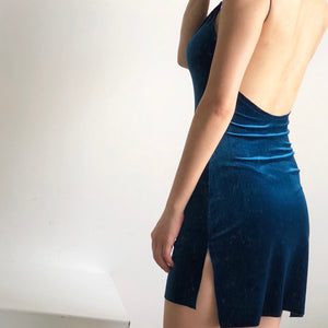 Low Back Velvet Slip