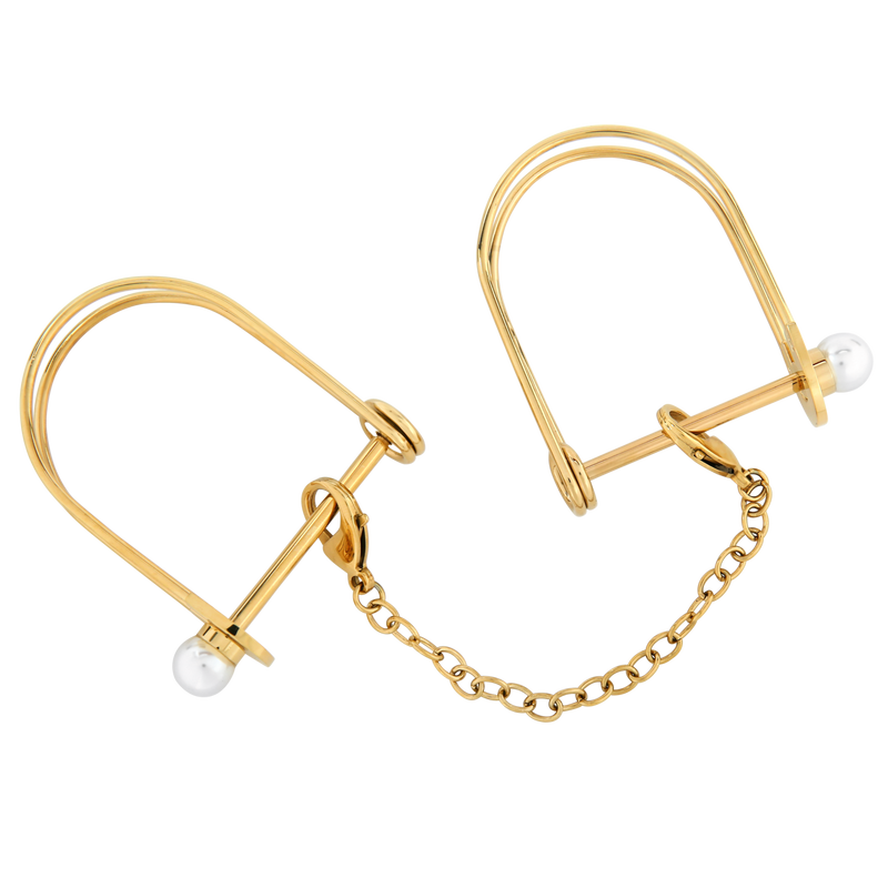 Bondage - La Vie Nue Lock and Pearl Cuffs