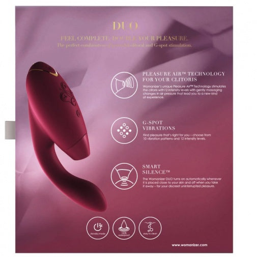 Silicone Rechargeable Rabbit Vibrator for Clitoris and G-spot: Womanizer Duo Black