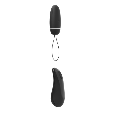 black Bnaughty Deluxe Unleashed Control Remote Bullet Vibrator