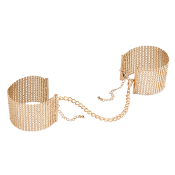 Désir Métallique - Metallic Mesh Handcuffs Gold