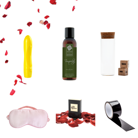 Beginner's Luck for Couples Pleasure Box Product Assortment
