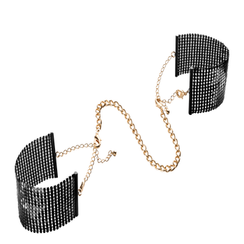 Désir Métallique - Metallic Mesh Handcuffs Black