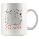 World's Best Educator Mug (Pink Personalised) - Butler Creative Childcare Resources