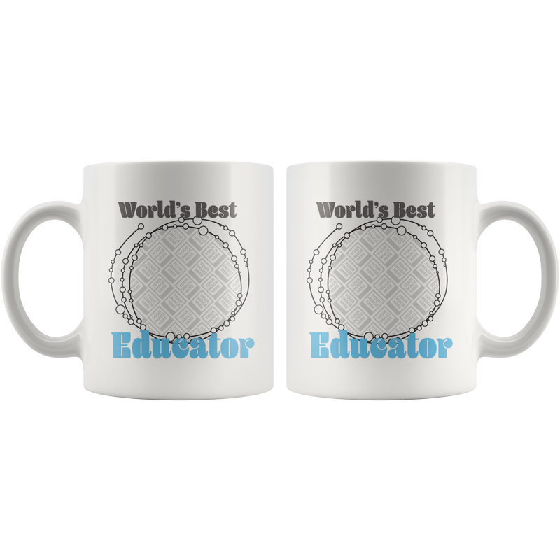 World's Best Educator Mug (Blue Personalised) - Butler Creative Childcare Resources