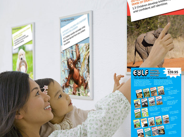 Posters - EYLF Learning Outcomes A4 - Butler Creative Childcare Resources