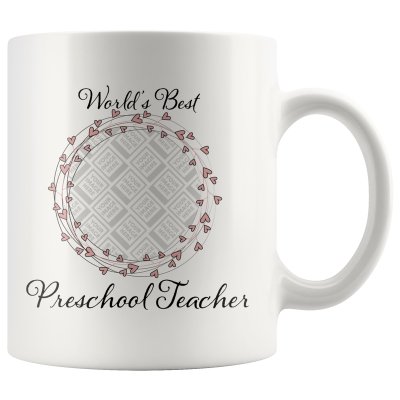 World's Best Preschool Teacher Swirl Hearts Pink - Butler Creative Childcare Resources