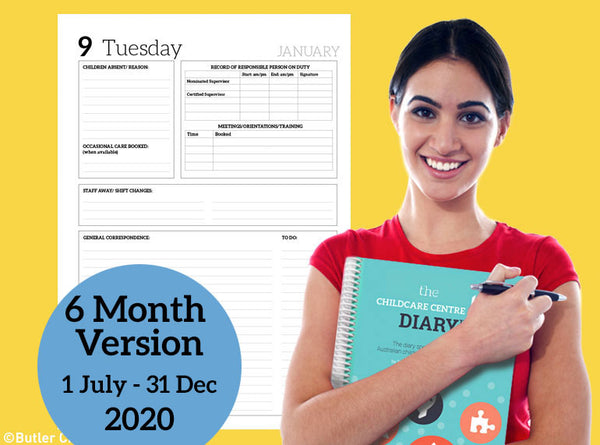 2020 The Childcare Centre Diary - 6 Month Version - Butler Creative Childcare Resources