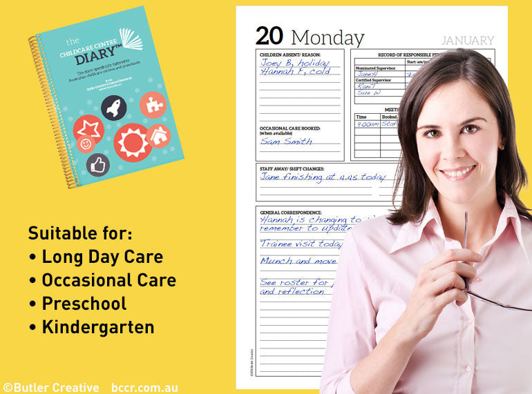 PREORDER 2021 The Childcare Centre Diary - Butler Creative Childcare Resources