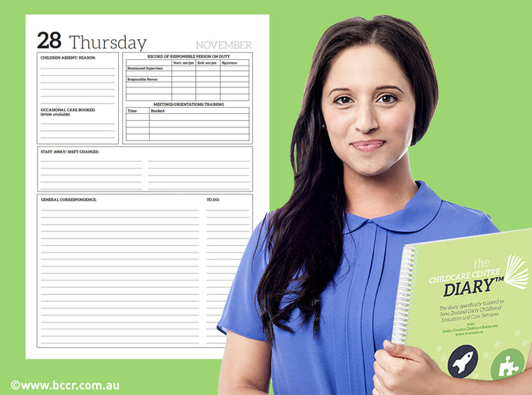 2019 New Zealand Childcare Centre Diary - Butler Creative Childcare Resources