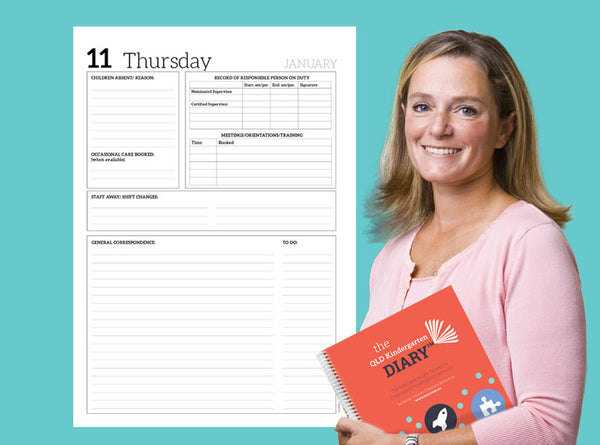PREORDER 2021 QLD Kindergarten Diary - Butler Creative Childcare Resources