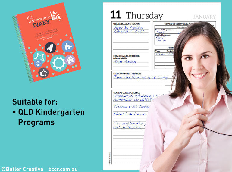 2021 QLD Kindergarten Diary - Butler Creative Childcare Resources