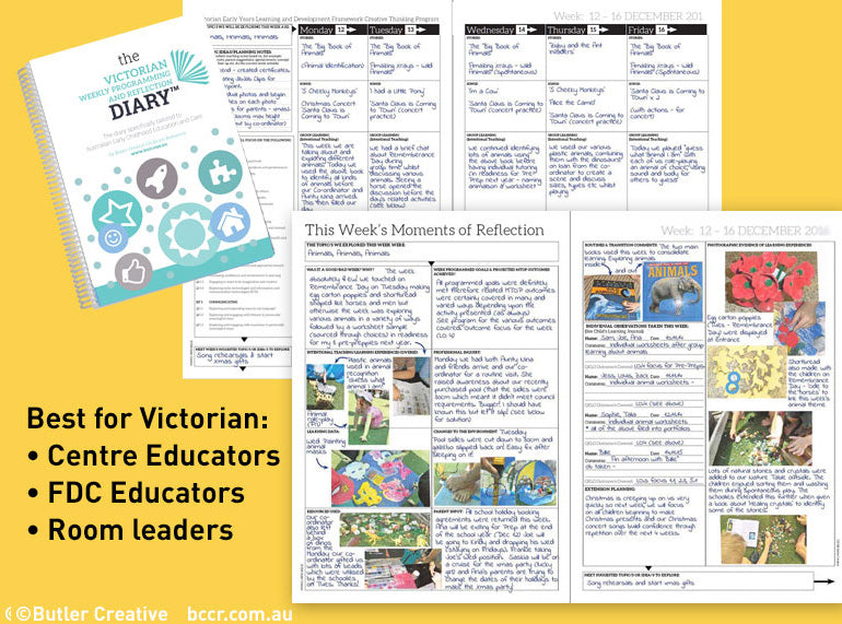 2019 VIC Weekly Programming and Reflection Diary - 6 month version - Butler Creative Childcare Resources