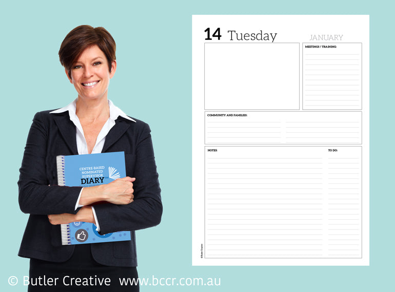 PREORDER 2021 Centre-based Nominated Supervisor Diary - Butler Creative Childcare Resources