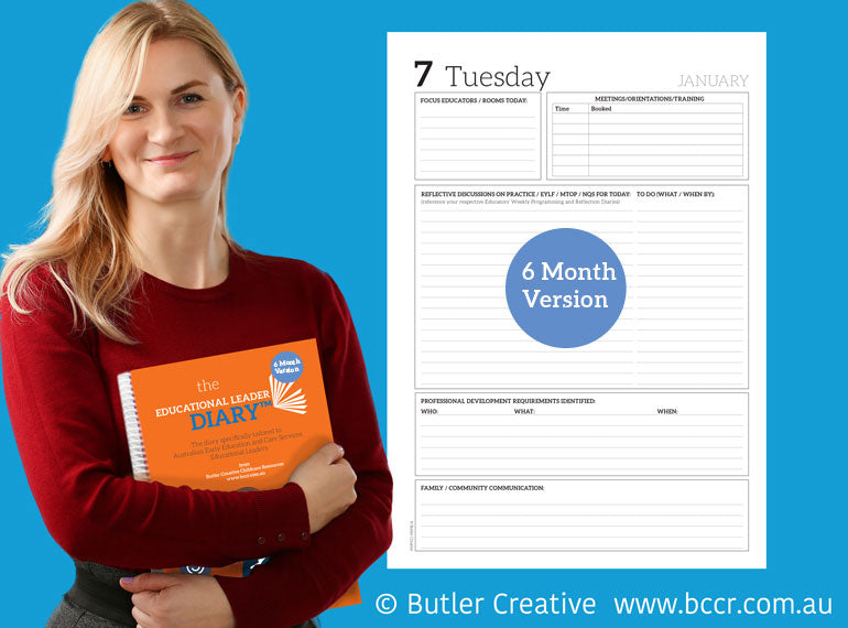 2020 Educational Leader Diary - 6 MONTH VERSION - Butler Creative Childcare Resources