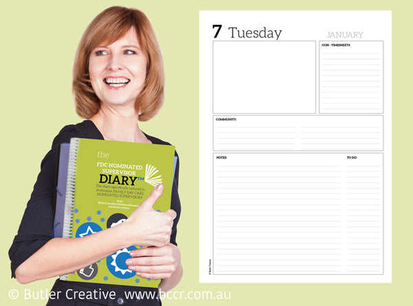 2020 FDC-based Nominated Supervisor Diary - Butler Creative Childcare Resources