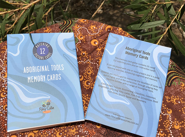 Aboriginal Tools Memory Matching Card Game - Butler Creative Childcare Resources