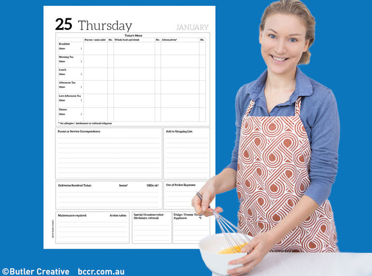 2019 Early Childhood Cook's Diary - Butler Creative Childcare Resources