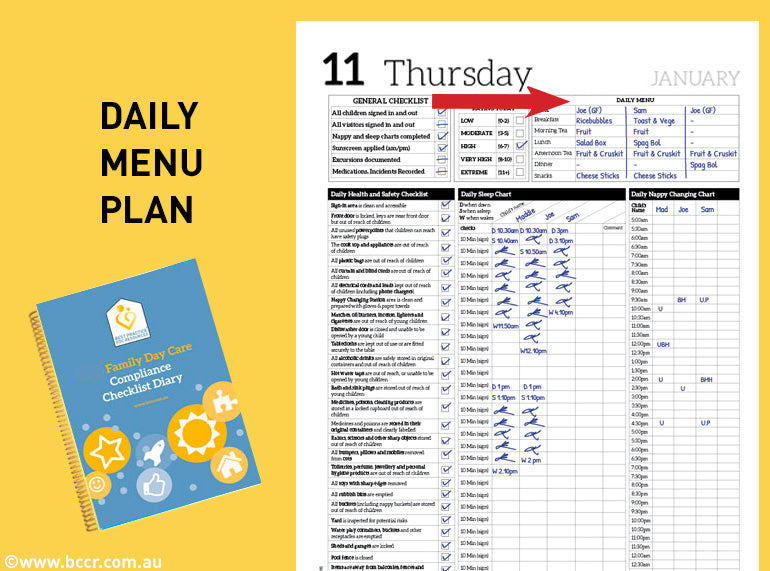 PREORDER 2021 FDC Compliance Checklist Diary - Butler Creative Childcare Resources