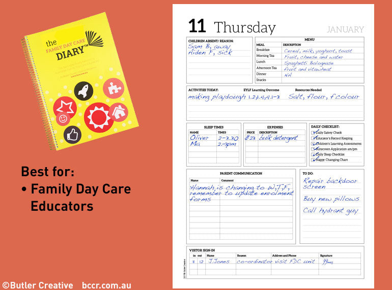 2020 Family Day Care Diary - Butler Creative Childcare Resources