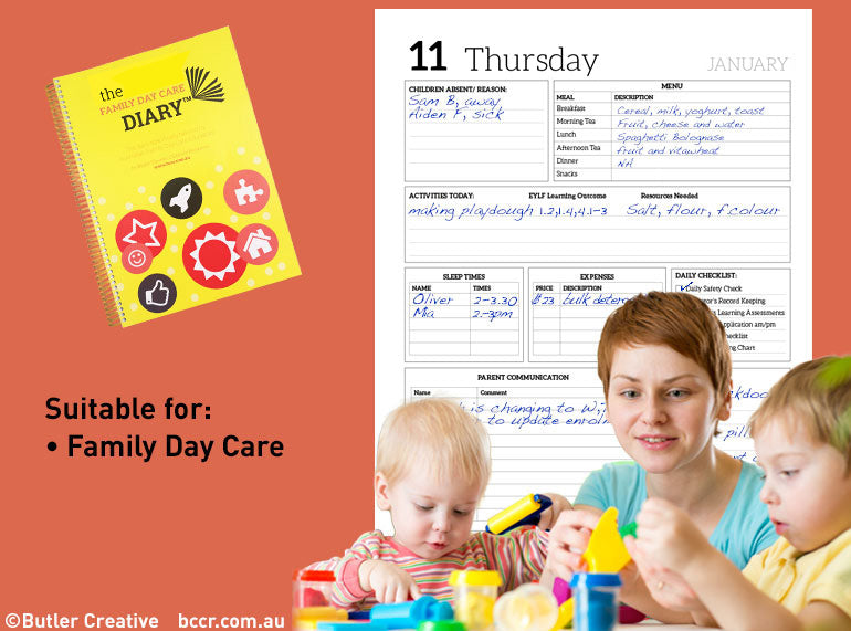 2019 Family Day Care Diary - Butler Creative Childcare Resources