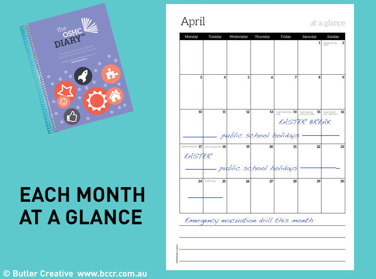 2020 OSHC Diary - 6 Month Version - Butler Creative Childcare Resources
