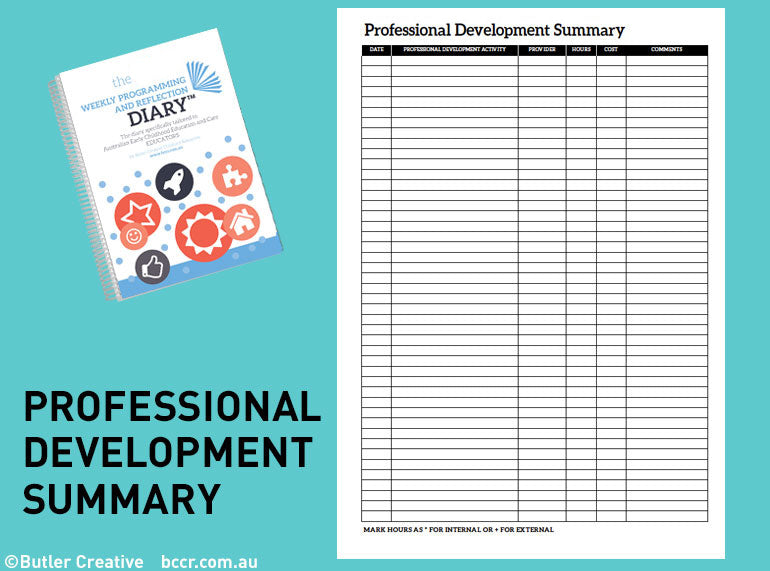 PREORDER 2021 Weekly Programming and Reflection Diary (Calendar Year) - Butler Creative Childcare Resources