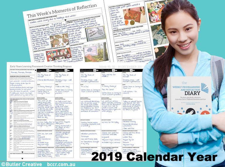 2019 Weekly Programming and Reflection Diary (Calendar Year) - Butler Creative Childcare Resources