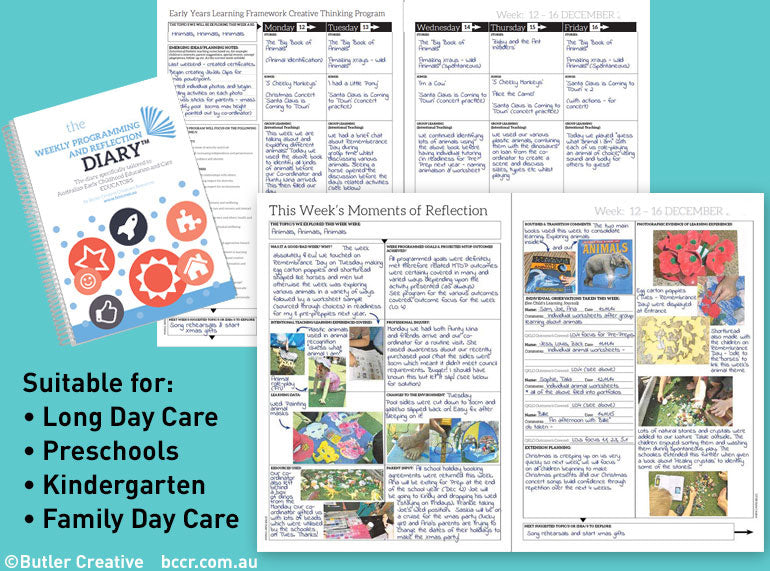 2020 Weekly Programming and Reflection Diary (Calendar Year) - Butler Creative Childcare Resources