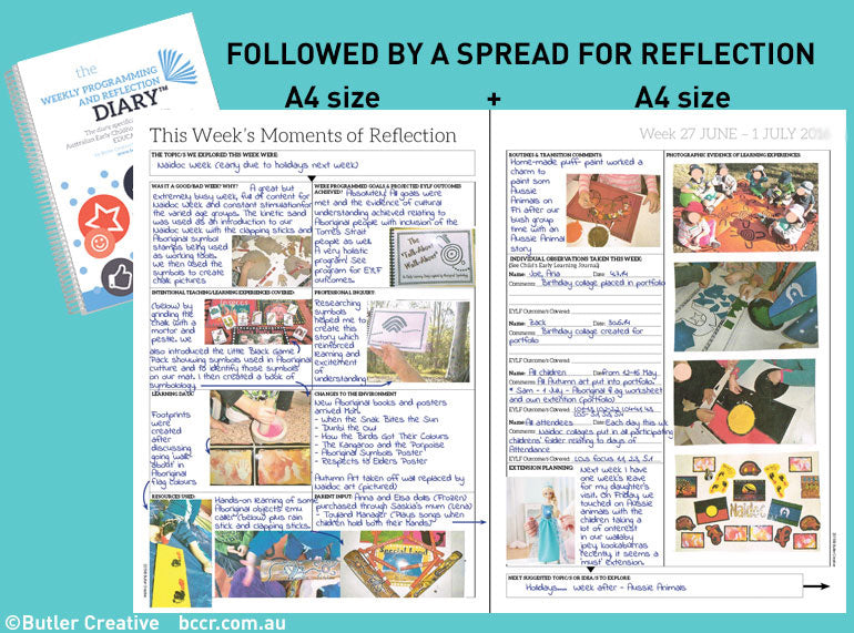 PREORDER 2020 (7 DAY) Weekly Programming and Reflection Diary (Calendar Year) - Butler Creative Childcare Resources