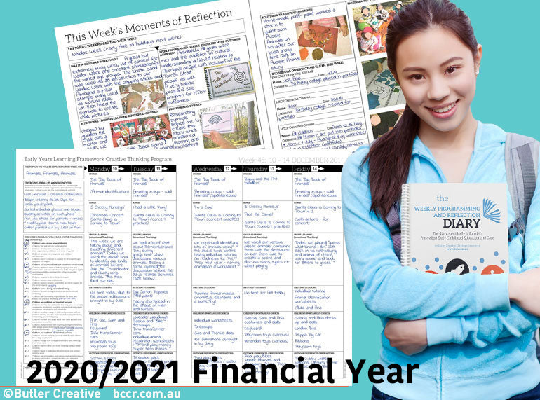 PRE-ORDER 2020/2021 Weekly Programming and Reflection Diary (Financial Year)