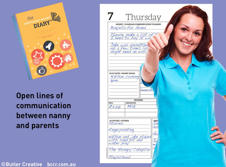 2020 The Australian Nanny / In Home Care Diary - Butler Creative Childcare Resources