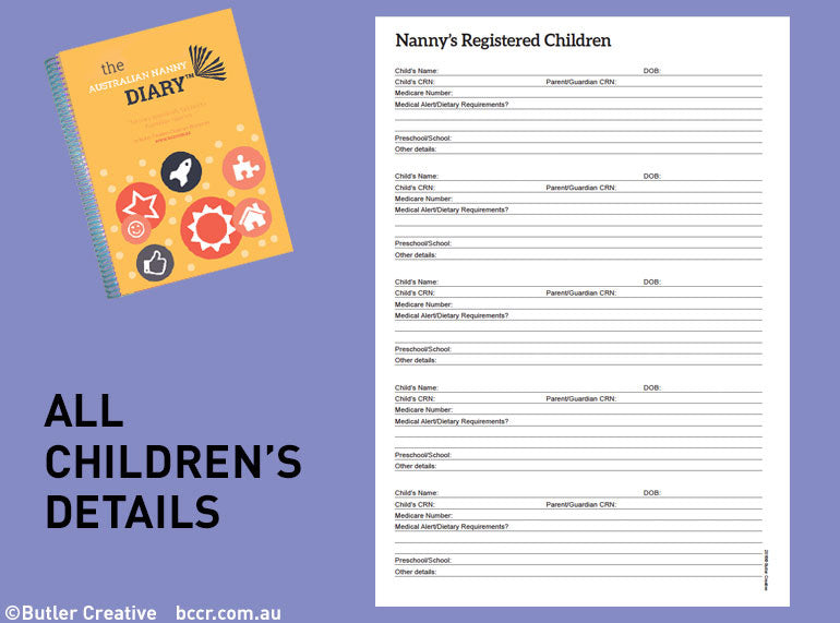 2019 The Australian Nanny Diary - Butler Creative Childcare Resources