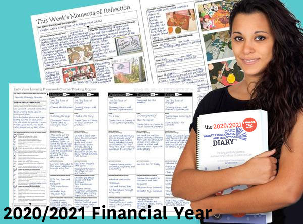 PRE-ORDER 2020/2021 OSHC Weekly Programming & Reflection Diary (Financial Year)