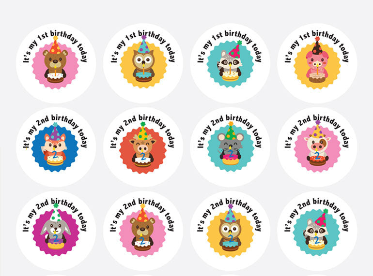 Positive Outcomes Stickers (Birthdays 6) - Butler Creative Childcare Resources