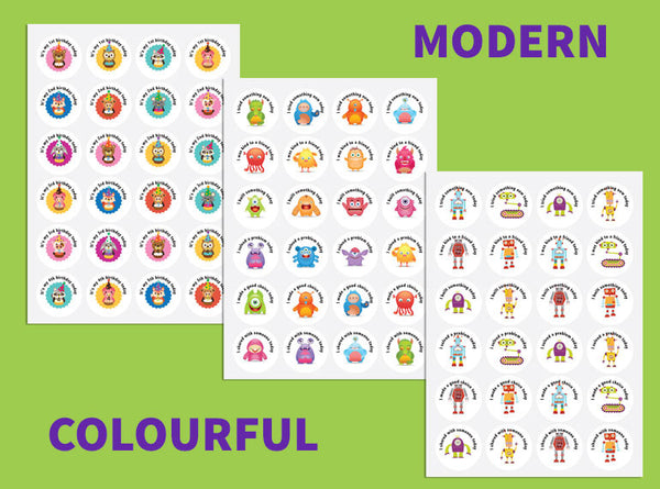 Positive Outcomes Stickers (Modern Colourful 6) - Butler Creative Childcare Resources