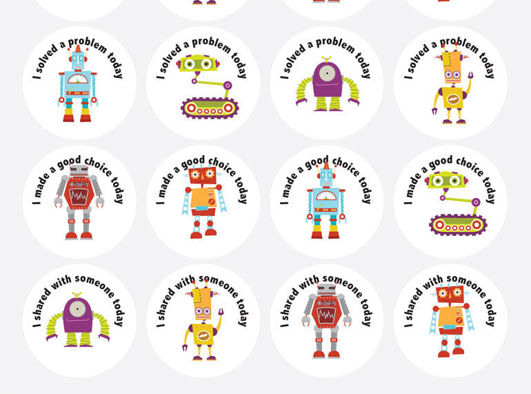 Positive Outcomes Stickers (Mixed 6) - Butler Creative Childcare Resources
