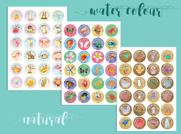 Positive Outcomes Stickers (Watercolour Natural 6) - Butler Creative Childcare Resources