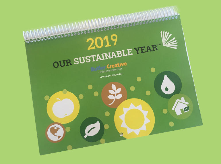 Our Sustainable Year 2019 Wall Calendar - Butler Creative Childcare Resources
