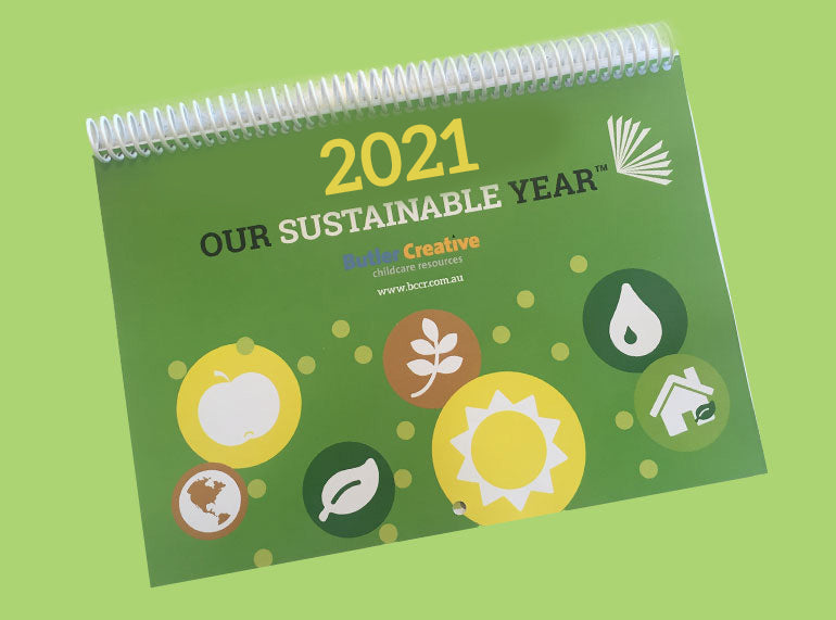 PREORDER Our Sustainable Year 2021 Wall Calendar - Butler Creative Childcare Resources