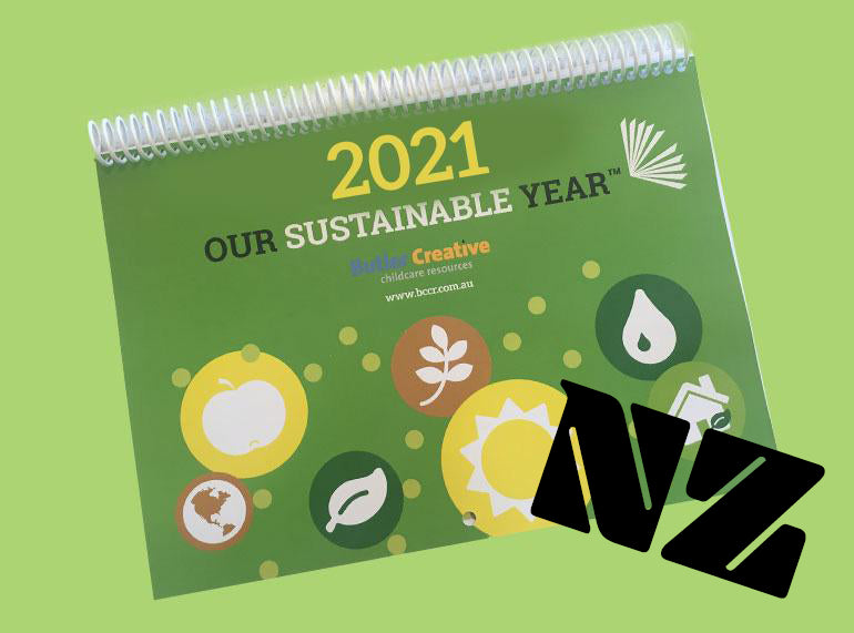 Our Sustainable Year 2021 Wall Calendar for NEW ZEALAND - Butler Creative Childcare Resources