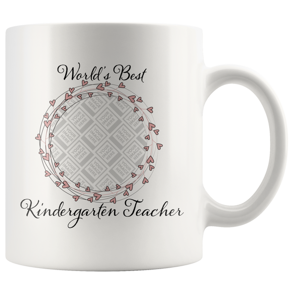 World's Best Kindergarten Teacher Swirl Hearts Pink - Butler Creative Childcare Resources
