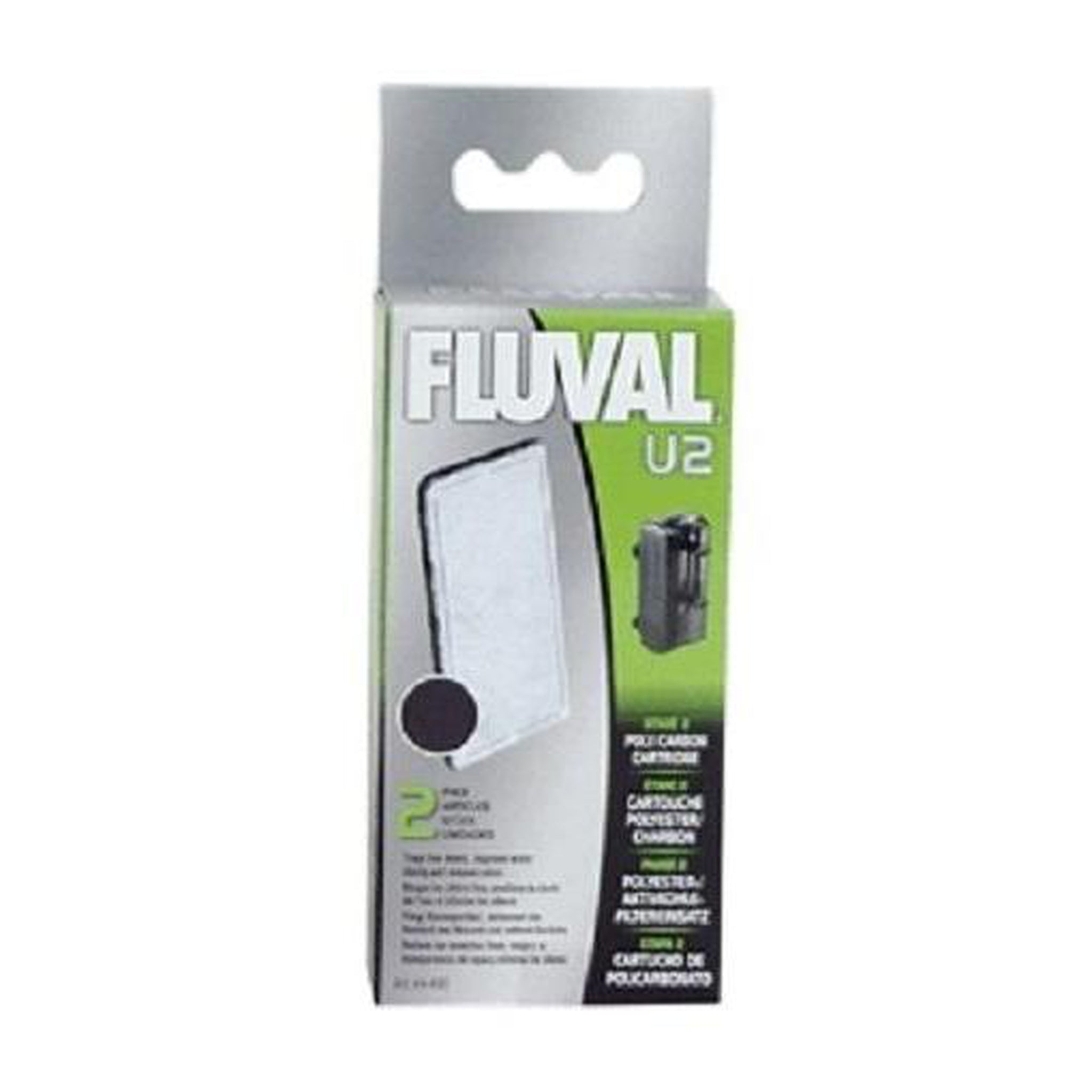 Fluval U2 Poly Carbon Cartridge 2 Pack