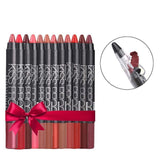12 Color/Set Sexy Kiss Proof Lipstick Pen - Makeup