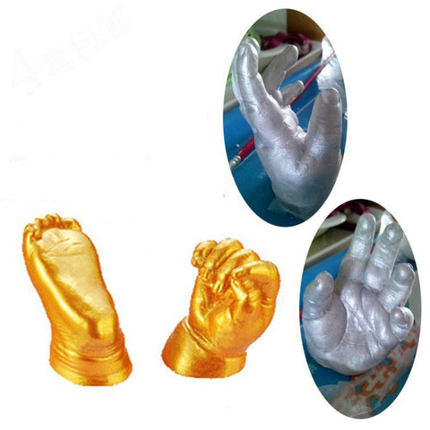 Baby Footprint Mold Kit - DIY 3D Plaster